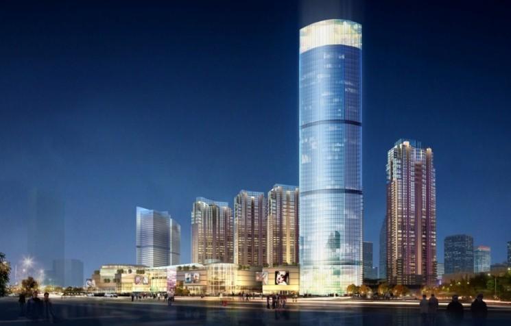 地上7层的万象城及地下3层,地上40层的写字楼和1栋34层的公寓,华润